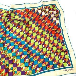 🌸🌵🌼Fisba-Stoffels | Geometric Silk Scarf